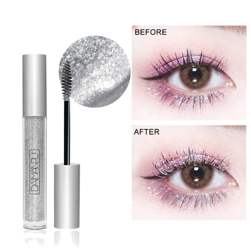 Diamond Glitter Mascara Quick Dry Water Drop Makeup Long Lasting Waterproof Curling Thick Shiny Eyelash Mascara New