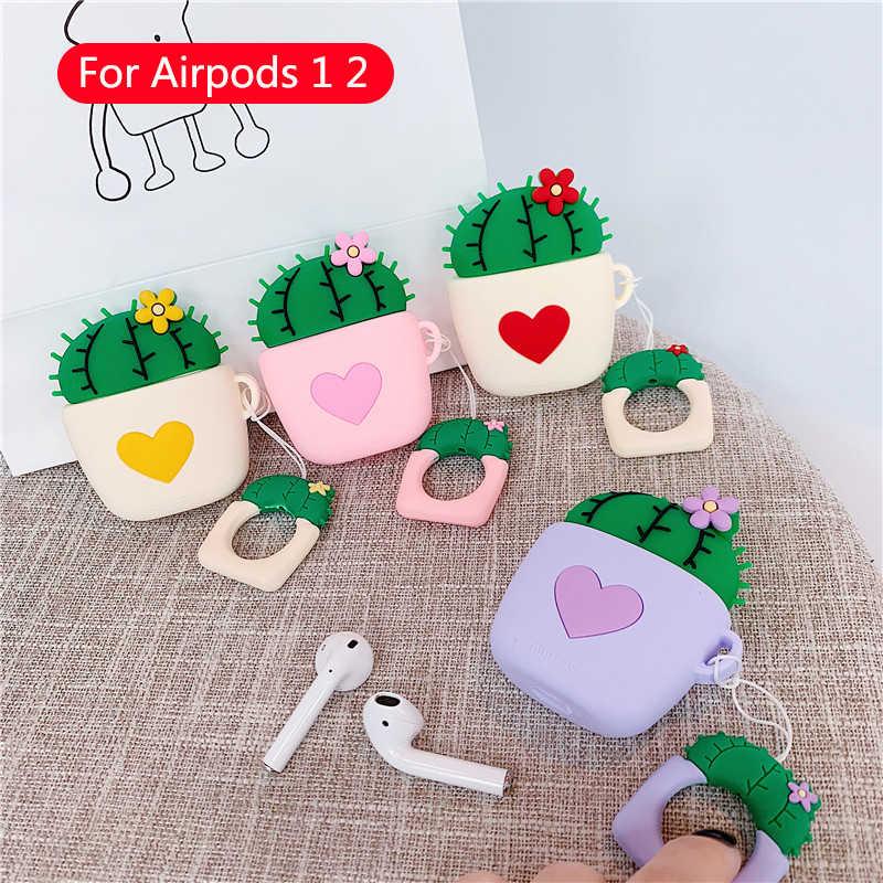 Étui pour écouteurs de dessin animé mignon pour Apple Airpods Silicone housses pour en cuir souple Airpod 1 2 accessoires boîte de charge housse de protection