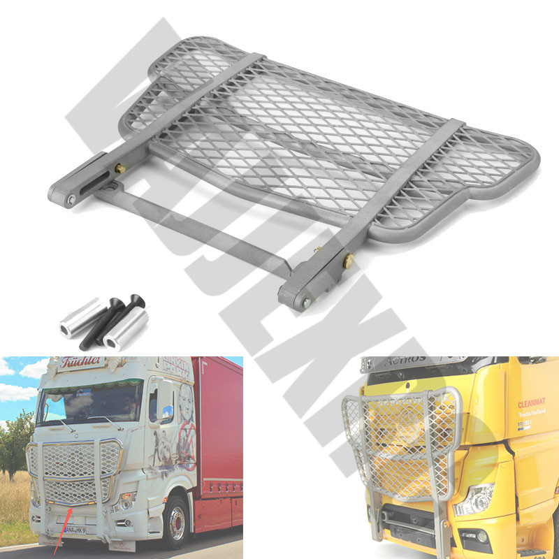 Stainless Steel Front Bumper for Remote Control Tamiya 1/14 Actros1851 Tractor Truck