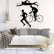 DIY Art Sports Running Swimming Wall Stickers Self Adhesive Art Wallpaper vinyl Stickers Wall Decal Home Accessories