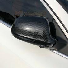 Tampa do Espelho do lado do Cobre para Audi A6 C6 4F A4 A5 B8 8K Q3 (Carbon Look) SQ3 A8 D3 S4 S5 S6 S8 2008 2009 2012 A3 8P