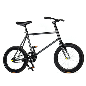 CHREAL Student Adult Fixed Gear Bicycle Mountain Bike Extreme Sport Road Bicycle Men 20 Inch Wheel Double V Brake Front ForkRide