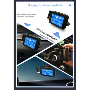 Image 3 - U901 Auto Truck TPMS Car Wireless Tire Pressure Monitoring System with 6 External Sensors Replaceable Battery LCD Display