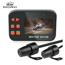 WINTUWAY DV188 Action Sports Camera 1080P Video DVR Waterproof Bike Motorcycle Car Vehicle Cam Dual Lens Dash Camcorder