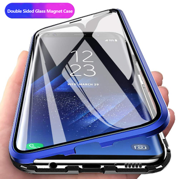 Magnetic Cases For Honor 10i 20i 20 Lite 8X 9X For Huawei P30 P20 Lite Mate 20 Pro 30 10 Lite Double Sided Tempered Glass Cover diamond case for huawei p30 p20 pro lite cover for huawei mate 20 pro honor 10 20 8x 9x nova 3 5 4 e glitter ring holder cases