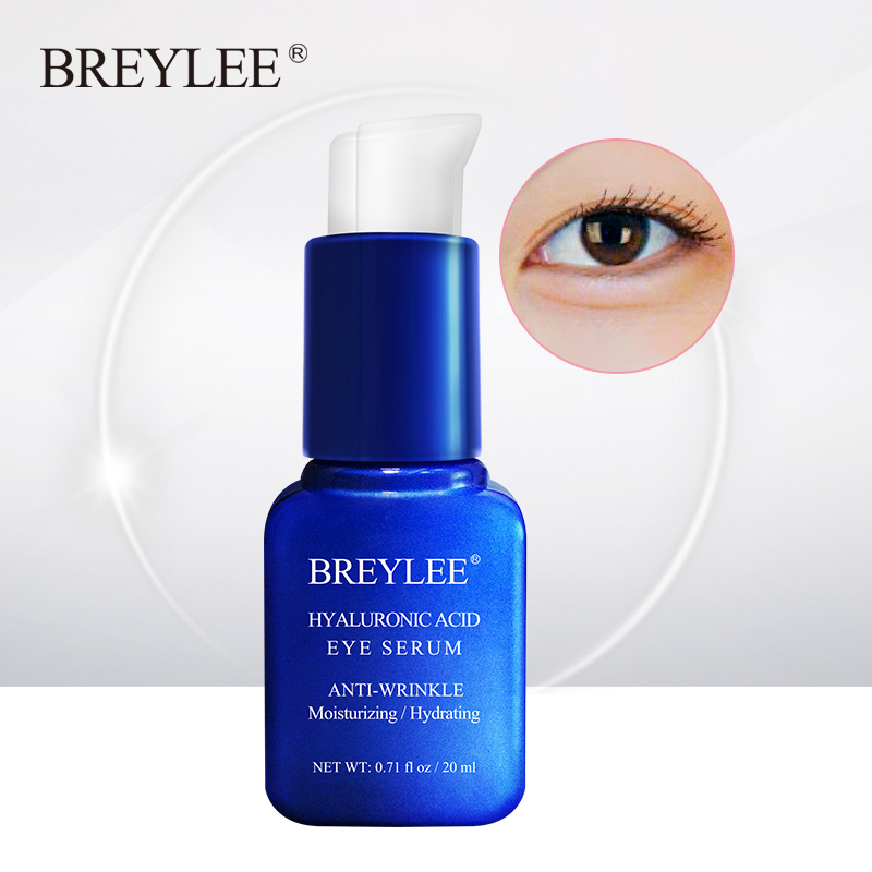 BREYLEE Hyaluronic Acid Eye Serum Mask Eye Care Cream Skin Care Moisturizing Whitening Reduces Fine Lines Dark Circles Eye Bags