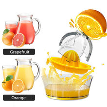Manual Pemeras Press Mini Mesin Buah Juicer Oranye Plastik Pemeras Lemon Jeruk Lime Pembuat Jus Rumah Dapur Alat(China)