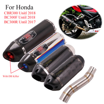 Motorcycle Whole set Exhaust Pipe For Honda CBR300 CB300F CB300R Modified Middle Connect Tip Muffler Slip
