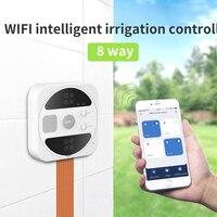 Timer Smart Life Wifi nawadnianie ogrodu System Tuya 4/6/8 obciążenie samo podlewanie programowalny głos automatyczny System podlewanie ogrodu w Liczniki ogrodowe do wody od Dom i ogród na