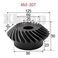 4M-30Teeths Innere Loch: 25mm Precision Spiral Kegel Getriebe Spiral Kegel Getriebe