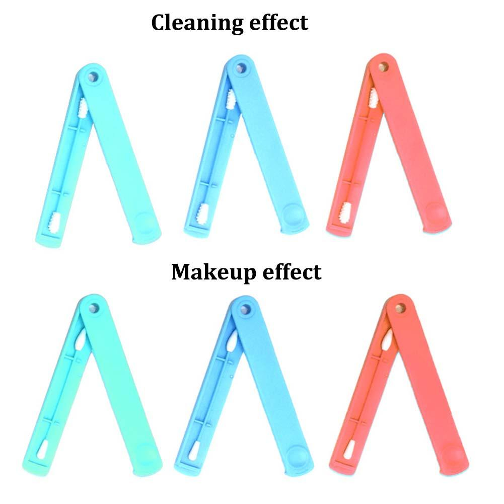 Mini Reusable Double Sided Cotton Swab And Storage Box Bud Stick Ear Pick Makeup Cleaning Tools Ears Cleaning Health Care Tool