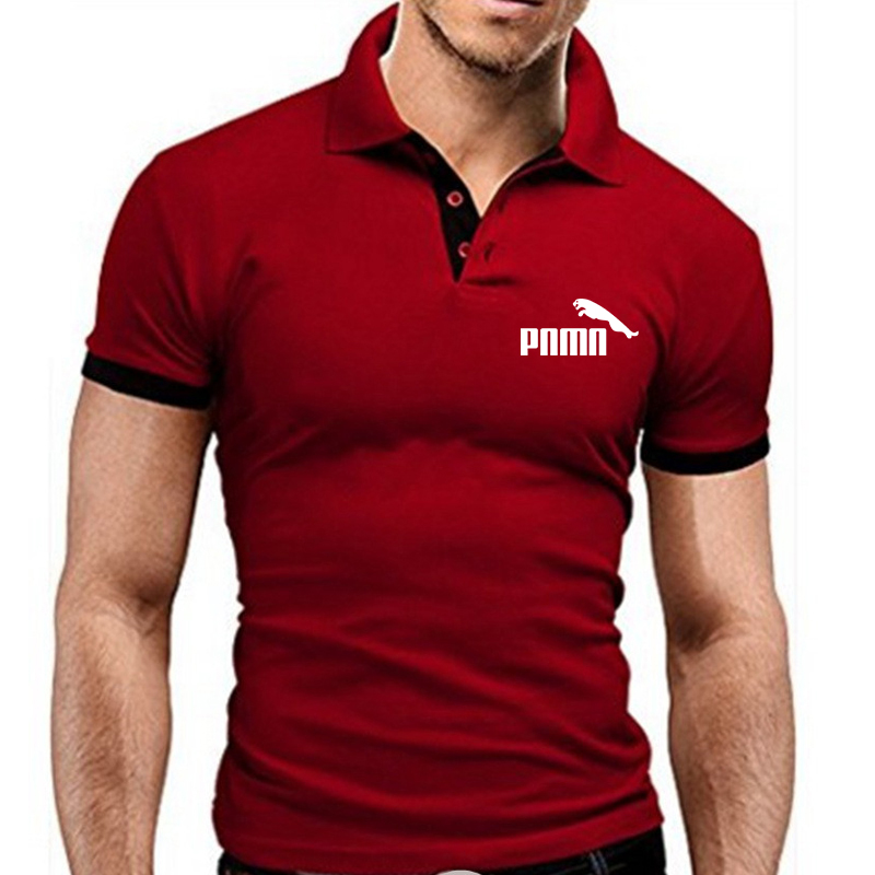 New Polo Shirt Men's Summer Stitching Men's Shorts Sleeves Polo Business Clothes Luxury Men's T-shirt Brand Polos MTP129