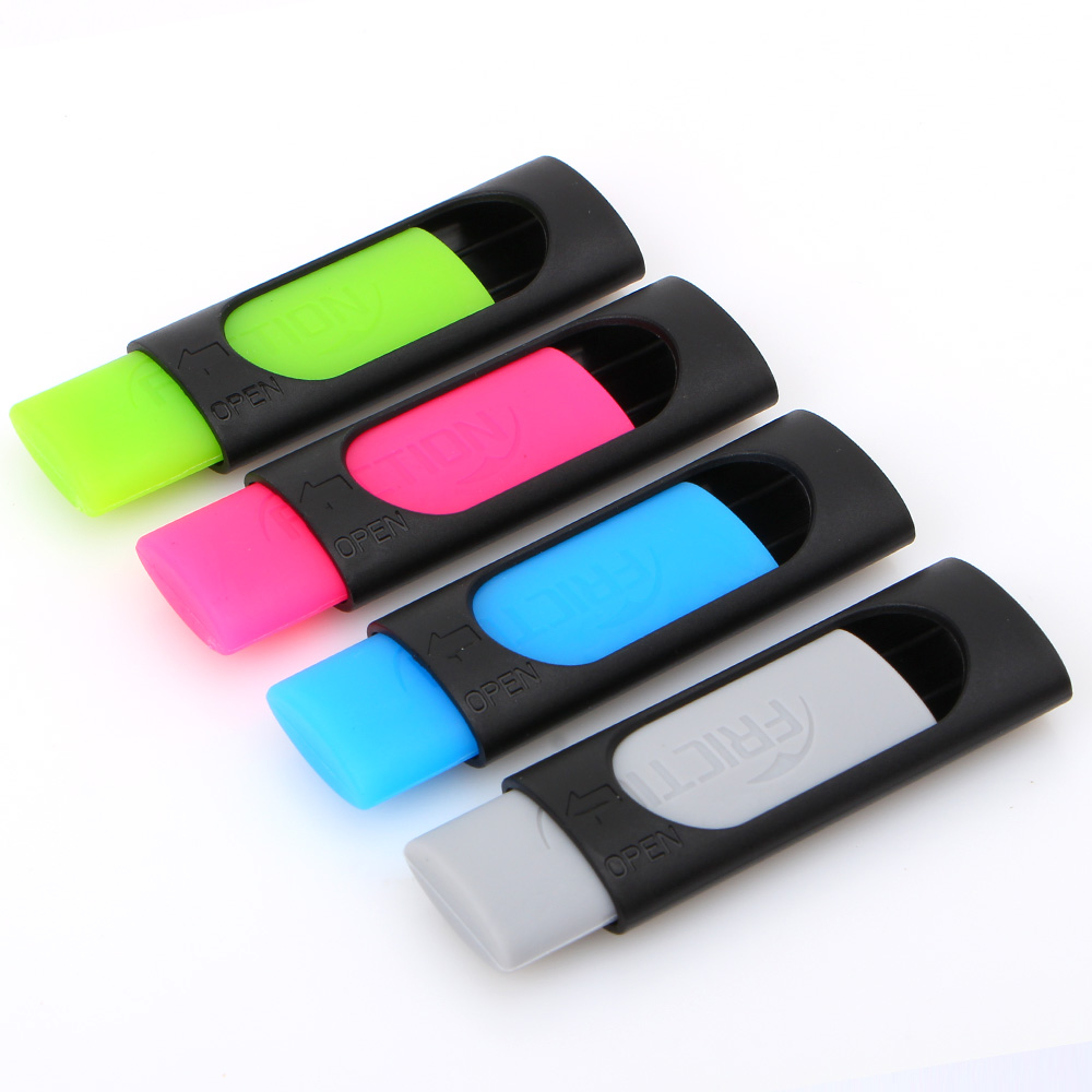 4pcs/lot ink eraser Friction Ink Eraser for Erasable pen Rubber 50mm*20mm Cheaper than Pilot free shipping