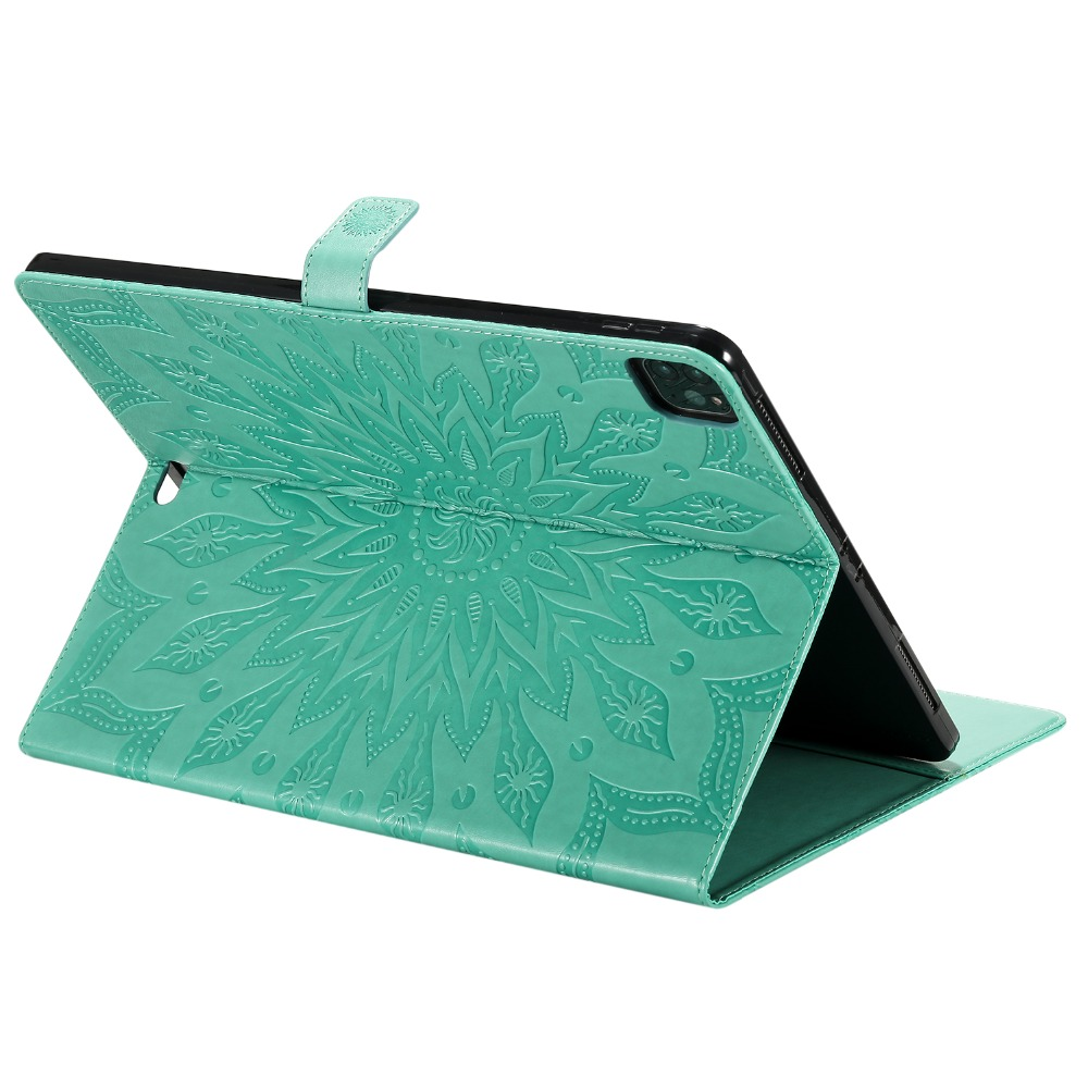 Shell Flower Case 2020 Cover Pro for Protective Embossed Leather 12 3D Skin iPad 9