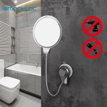 smartloc 1X 5X Magnifying Suction Cup Wall Mounted Bathroom Mirror Smart Mirror Bathroom Mirror Make up Mirrors Accessories bath mirror cosmetic mirror 1x 3x magnification suction cup adjustable makeup mirror double sided bathroom mirror