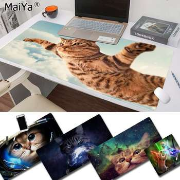 Maiya Non Slip PC Funny Lovely Space Cats Customized laptop Gaming mouse pad Free Shipping Large Mouse Pad Keyboards Mat