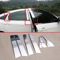 Steel Parts Window Center Middle Pillar Cover Trim Fit For Honda Civic Sedan 10th 2016 2017 2018 2019 Decoration Accessories