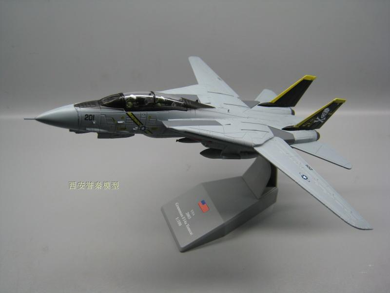 1/100 Military Model Toys F14 Tomcat F-14A/B AJ200 VF-84 Fighter Diecast Metal Plane  Aircraft  Airplane Model Toy For Collectio