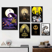Canvas Print HD Picture Wall Art Paintings The Nightmare Before Christmas Home Decoration Modular Poster For Living Room Frame(China)