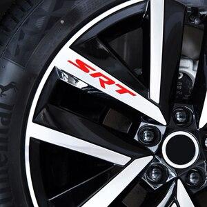 Image 5 - Pegatinas de decoración de llanta de rueda de limpiaparabrisas para coche, para Dodge Caravan, Neon Viper Journey Demon RAM 1500 2500 3500 SRT SXT Heavyduty, 4 Uds.