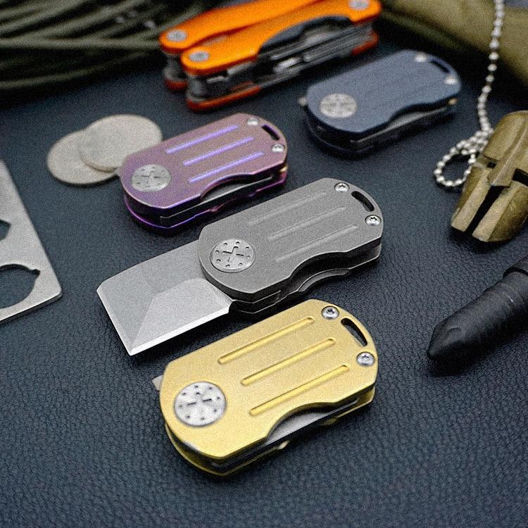 리틀 보이 S35VN Karambit 나이프 접이식 블레이드 스위스 나이프 사냥 서바이벌 전술 핸드 포켓 나이프 Edc 나이프 티타늄 합금