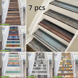 Funlife® 18x100cmx7pcs 24 Style Stair Sticker Waterproof Self-adhesive PVC Staircase Sticker for Bathroom Kitchen Stairway Decor
