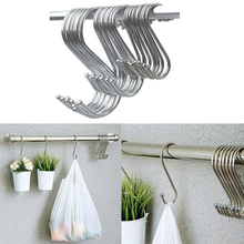 5Pcs S Shaped Hooks Stainless Steel Heavy Duty Iron Wire Clasp Over Tool Utensils Hangers Door Clothes Rack for Kitchen Home