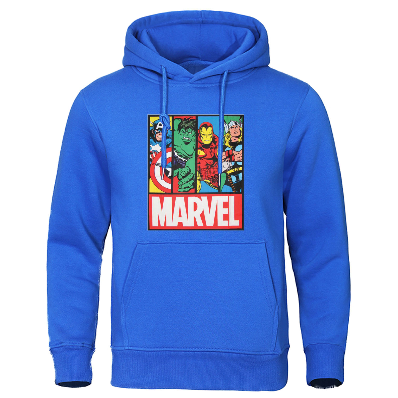 Marvel Sweatshirt Streetwear Autumn Winter Male Hoody The Avengers Men Casual Pullover Superhero Tracksuit Brand Mens Hoodies