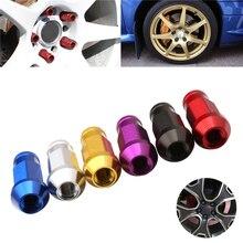 1 takım M12X1.5/M12X1.25 kütük alüminyum yarış tekerlek Lug kuruyemiş kiti renkli seçim Honda Ford Toyota araba aksesuarları