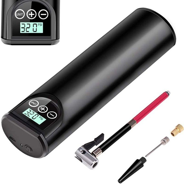Electric Bicycle Pump Wireless Air Pump Rechargeable Road Bike Pump High Pressure 150 PSI Air Compressor Portable Tyre Inflator