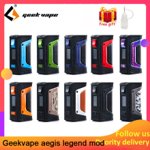 Vape комплект GeekVape Aegis mod aegis Legend 200 Вт TC коробка мод Питание от двух батарей 18650 электронные сигареты без батареи для zeus rta blitzen