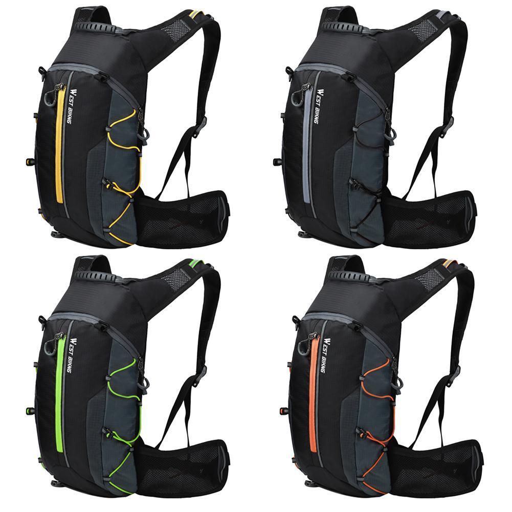 WEST BIKING Waterproof Bike Backpack Reflective Cycling Backpack Outdoor Climbing Camping Hiking Backpack Mountain Bicycle Bag