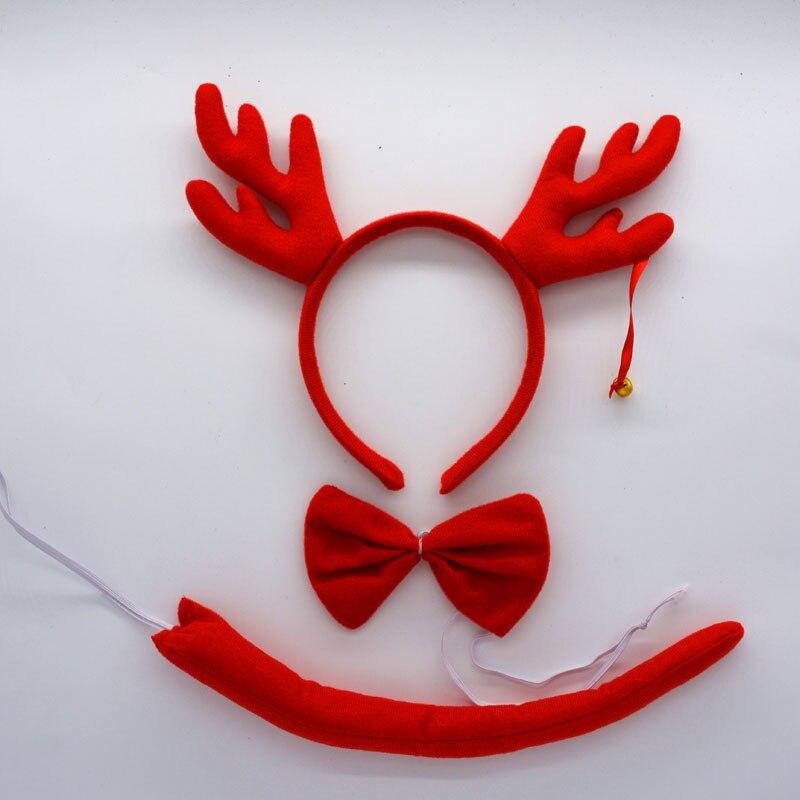 Детская повязка на голову с ушками животных для мальчиков и девочек; комплект с галстуком-бабочкой и хвостом для детей и взрослых; карнавальный костюм; вечерние аксессуары для волос - Цвет: 30