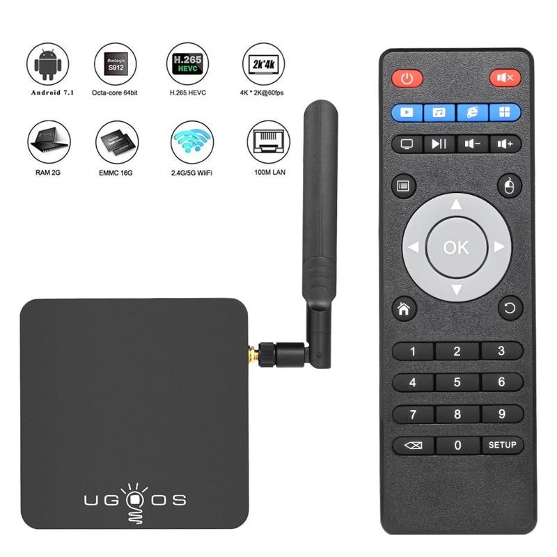 UGOOS AM3 Android 7.1 Marshmallow OS Smart TV Box 2GB+16GB Amlogic S912 Octa-core 2.4G & 5G WiFi H.265 VP9 UHD 4K media player(China)