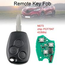 433Mhz 3 Buttons Keyless Entry Remote Car Key Fob with PCF7947 Chip and NE73 Blade Fit for Renault New 433mhz 2 buttons remote car key with pcf7946 chip and ne73 blade fit for renault new