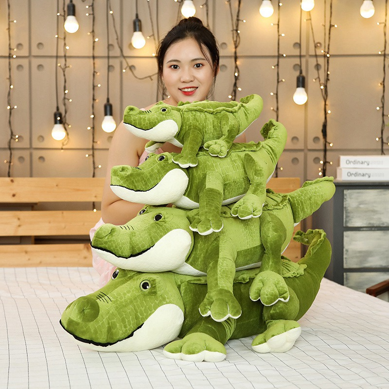 New 50-90cm Big Size Simulation Crocodile Plush Toys Stuffed Soft Animals Cushion Pillow Doll Home Decoration Gift For Children