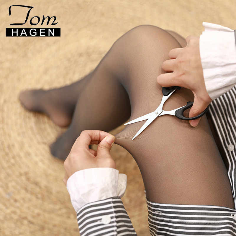 Women's Tights Winter Warm Black Sexy Leggings Skin Pantyhose Transparent Elastic Tights Hick Pantyhose Women Korean Stockings