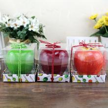 Apple Shaped Candle Innovative Romantic Artificial Wax for Christmas Birthday Wedding Party Decorations Gift