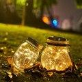 2 Pcs Riss Solar Powered Hängen Fee Außen Beleuchtung Garten Atmosphäre Glas Landschaft Party Patio Dekorative Led Licht