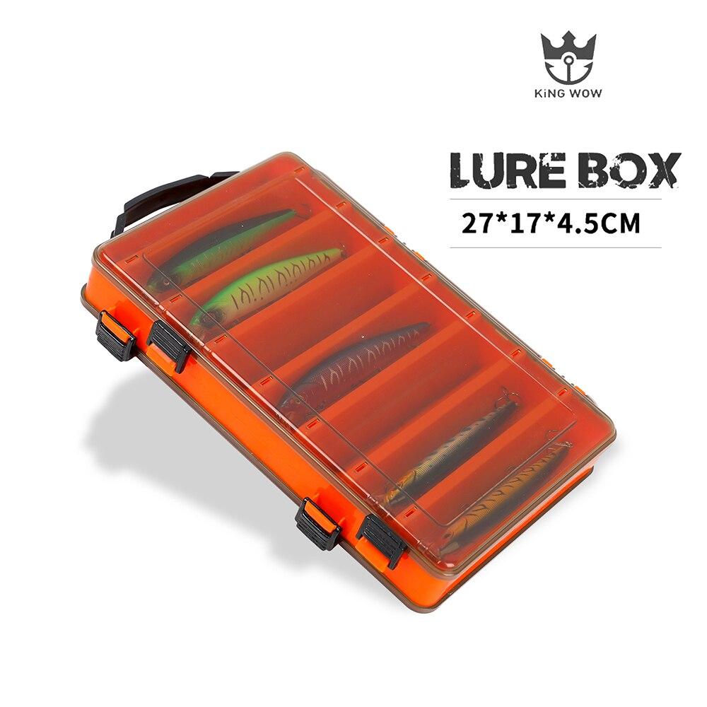 Caixa de isca de pesca caso 12 & 14 quarto caixa de ferramentas dupla face para pesca dupla face isca/gancho caixa de armazenamento plástico pesca equipamento