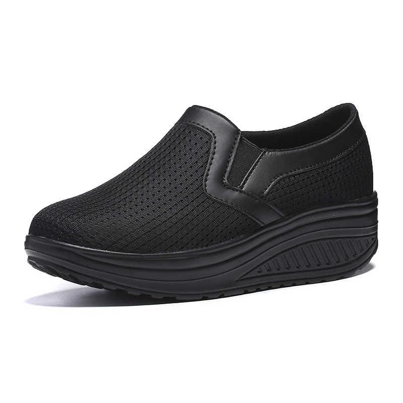 Mode Vrouwen Casual Schoenen Platform Chunky Sneakers Platte Dikke Zool Tenis Sneakers Vrouwen Wedge Mand Lopen Zapatos De Mujer