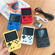 Original 2021 retro portátil mini handheld console de jogos de vídeo 8-bit 3.0 Polegada cor lcd crianças jogador de jogo de cor embutido 400 jogos