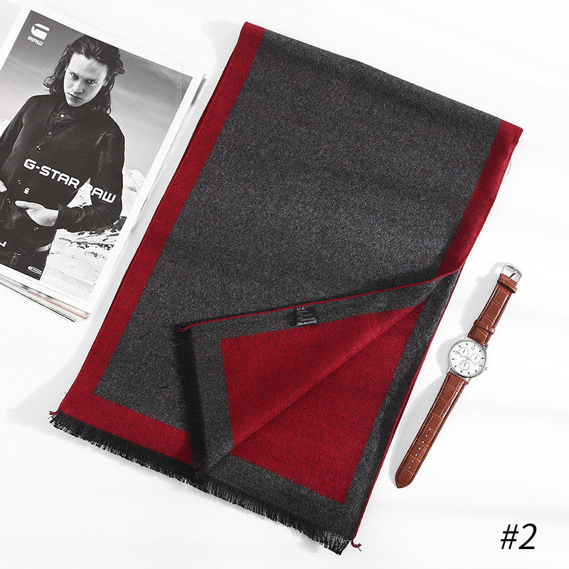 China 2019 New Style Silk Fashion Quality Scarves Man Autumn And Winter Warm Cashmere Scarf Man Business Wraps Foulard Collar