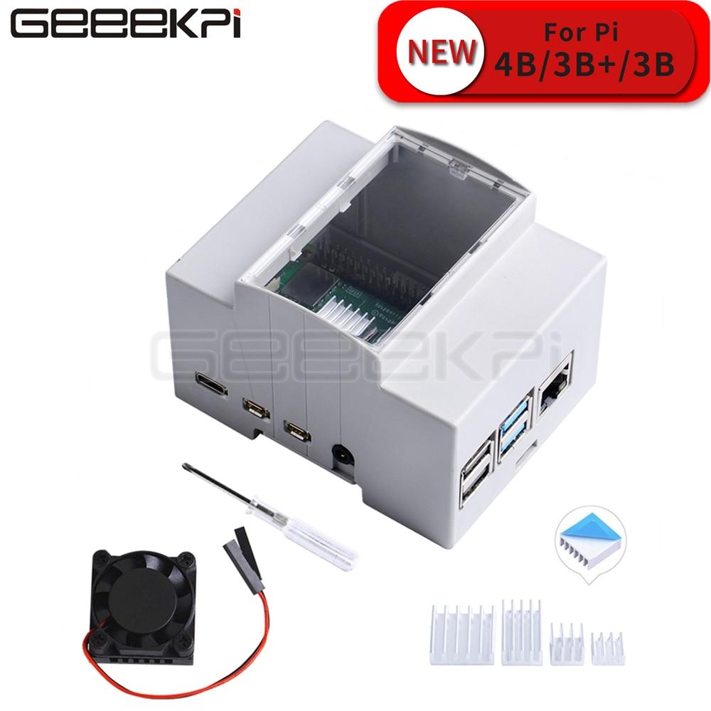 Carcasa para Raspberry Pi 4 Modelo B Solo para Pi 4 GeeekPi Raspberry Pi 4B con Ventilador de refrigeraci/ón y Destornillador para Raspberry Pi 4 Modelo B All Black with Power Supply