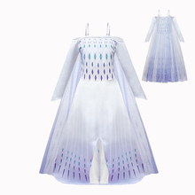 Girls Elsa Dress Snow Queen White Dress Gauze Skirt Kids Baby Girl Clothes Birthday Party Prom Performance Cosplay Girl Clothing