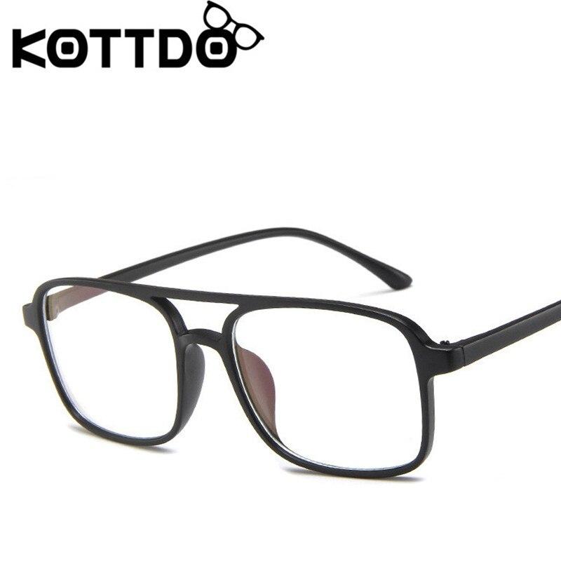 KOTTDO Vintage Square Eyeglasses Frame Women Prescription Eye Glasses Frames For Men Computer Reading Glasses