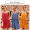 Women Jumpsuits  2020 Summer Sexy V-neck Striped Sleeveless Cotton Jumpsuits Bandage Short Bodysuit rompers Casual Red Overalls 4