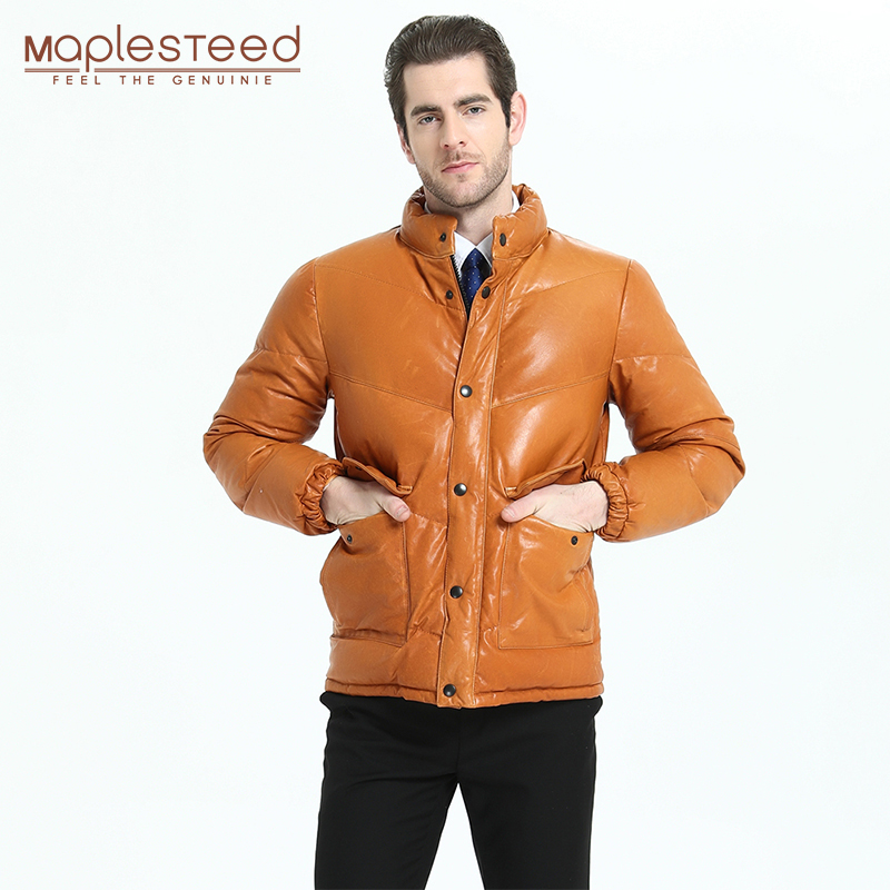 Coat Men Down-Jacket Sheepskin Asian-Size Genuine-Leather Clothing Thicker Winter Duck