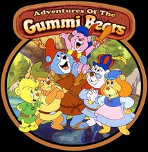 T-shirt personnalisé des aventures classiques des ours Gummi, de toute taille et de toute couleur, 80 dessins animés