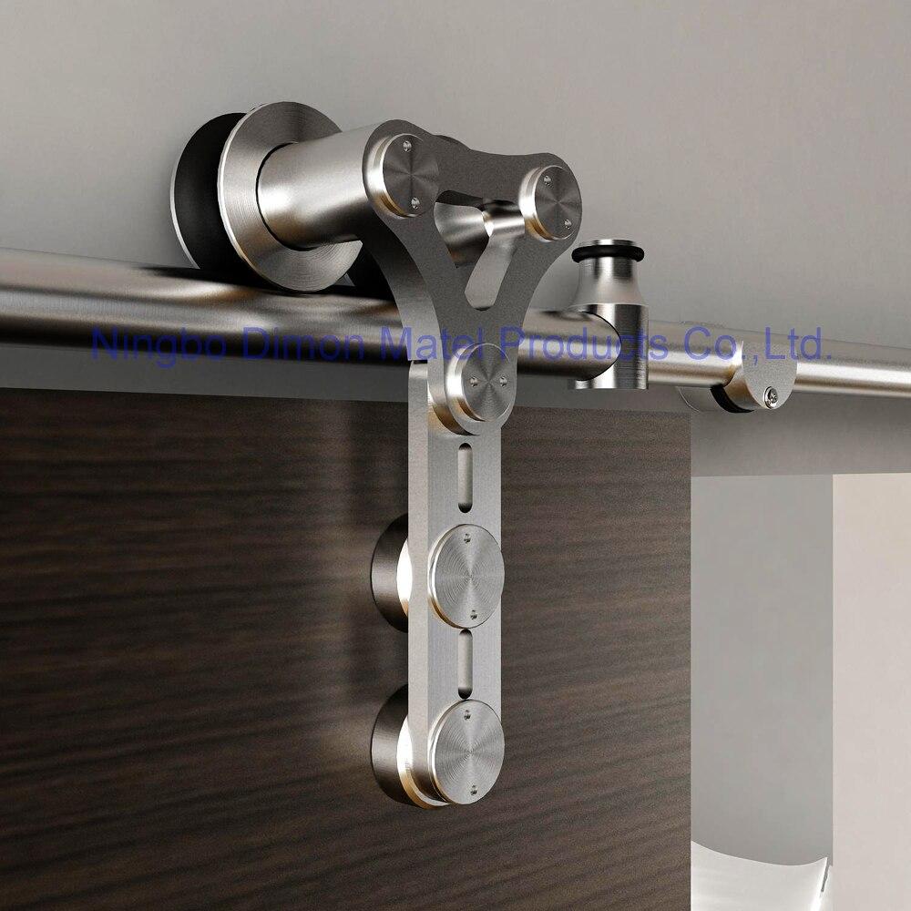 Dimon-rueda colgante de acero inoxidable 304, herrajes para puerta corredera de estilo americano, DM-SDS, 7105, sin pista